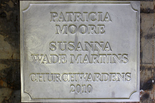 Leadwork plaque